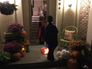 Neighbors always enjoy a flood of anxious trick-or-treaters.